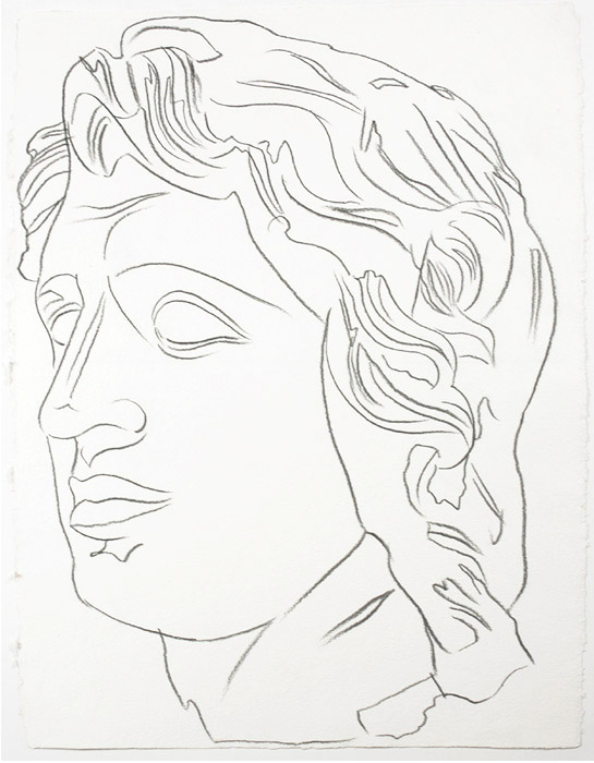 Andy-warhol-alexander-the-great-drawing-profile