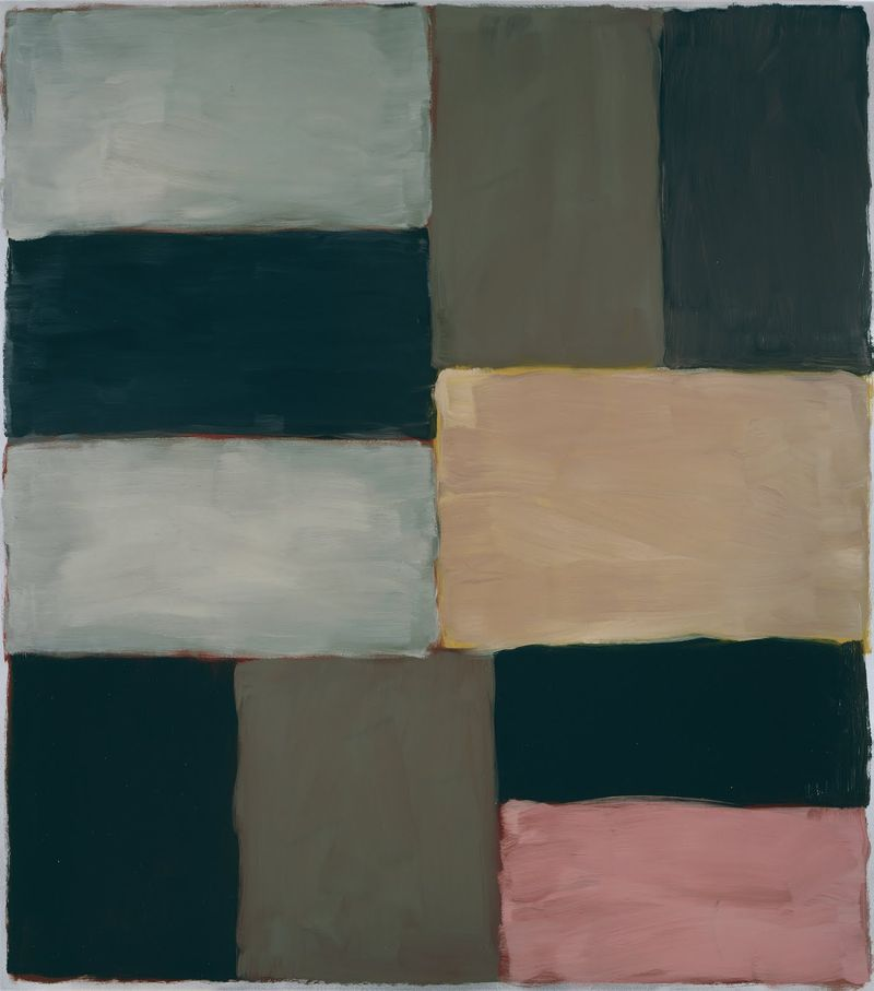 Timothy Taylor Gallery, Sean Scully, Wall of Light Pale Yellow Pink, 2009